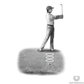 Golf bunker shot drill