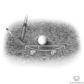 Bunker shot tips on how much sand to take