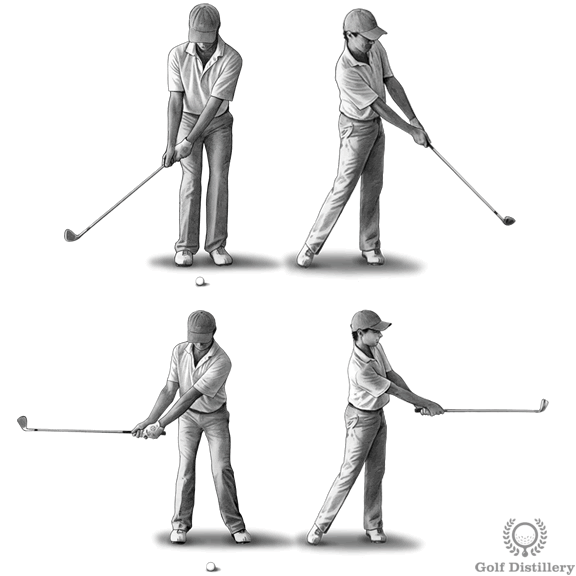 chipping technique for distance control