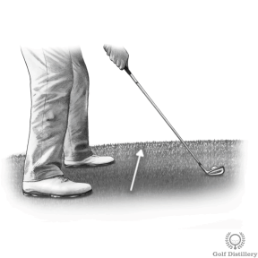 Chipping tips for an uphill lie