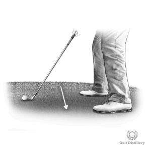 Downhill Golf Lie