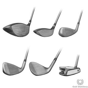 Types of Golf Clubs - Driver, Fairway Wood, Hybrid, Iron, Wedge, Putter