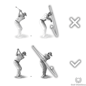 Shanking Cause #3 - Over the Top Swing Error
