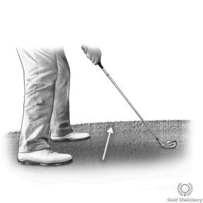 Uphill Golf Lie