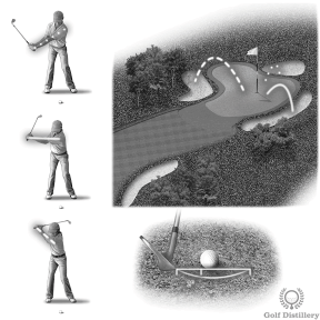 Control the distance of your bunker shots with the length of your swing, not with the amount of sand you take