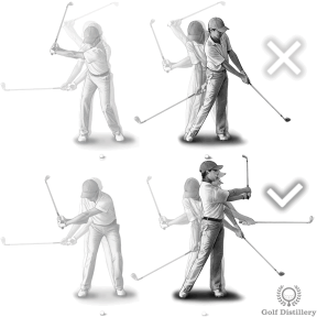 Make sure that your follow through is longer than your backswing for bunker shots