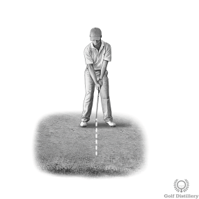 Bunker Shot Drill: Draw a line in the sand, in between your two feet