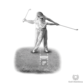 Bunker Shot Drill - Swing and aim to create a divot in the sand of 6 inches in length