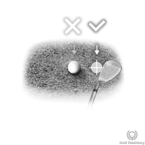 Aim behind the ball for bunker shots, not at the ball