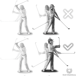 Use a full follow through for plugged bunker shots