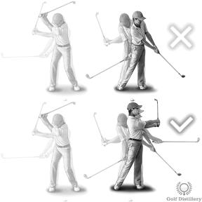 Use a full swing an follow through for an upslope bunker shot
