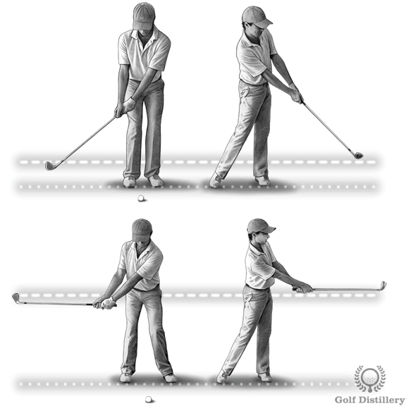 Chipping distance control technique
