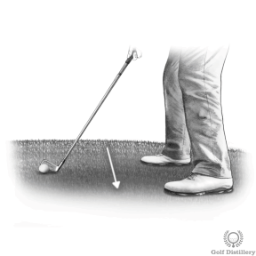 Chipping tips for a downhill lie
