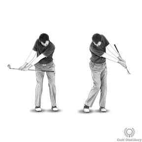 Chipping Drill - Practice making short swings while making sure the grip of the club doesn't strike your body at the follow through