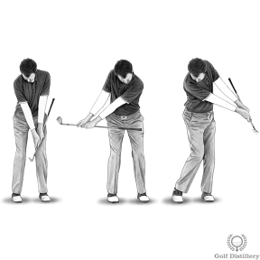 Chipping Drill - Make practice swings while making sure your hands stay passive and hold your wrist hinge