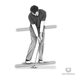 Open your stance while setting up for a chip shot
