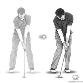 For a chip shot modify your normal setup for one that favours control and feel