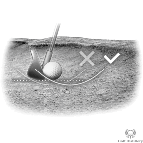 Make sure to hit the ball first for fairway bunker shots