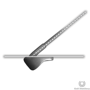 The line of the shaft when you step of your clubface will give you a preview of the ball flight angle