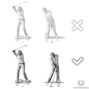 Don't leave your weight on your back foot at impact for fairway bunker shots