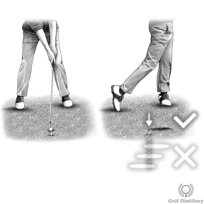 Golf Fat Shot Drill #1 - Hit the ball first, then create a divot