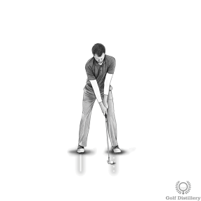 Golf Fat Shot Drill #3a - Take your address position normally