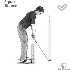 Golf Alignment: Square Stance