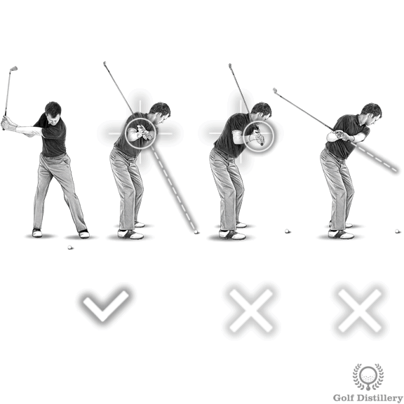 Golf Backswing (halfway position of the golf swing)