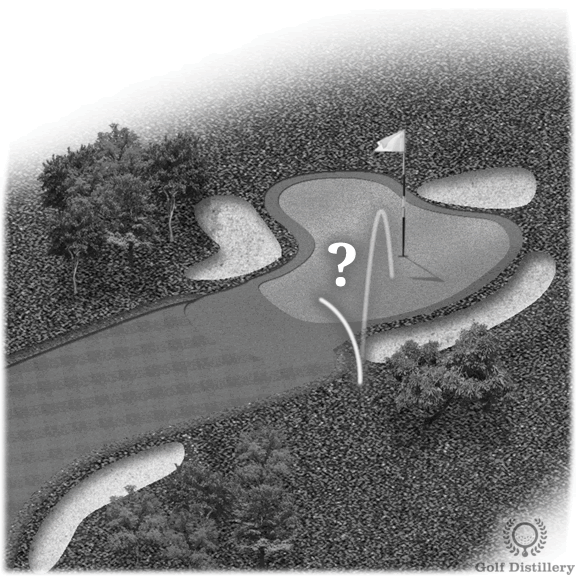 Golf strategy tips for green side shots
