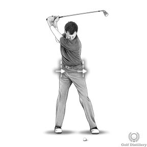 Bump your hips forward slightly to start your downswing
