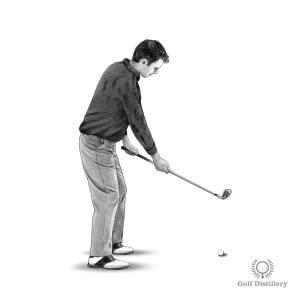 Grip your golf club with your right hand all the way down the grip of the club, on the metal of the shaft