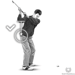 Pull your right elbow down during the downswing
