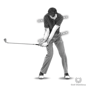 Hands lead the club toward impact during the downswing