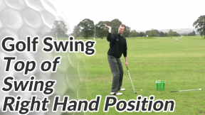 Video Preview of a Golf Drill for the Top of the Swing - Position of the Right Hand