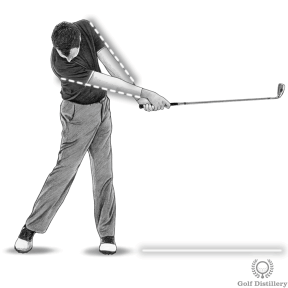 Extend your arms out and have the club point at the target during the release of the club