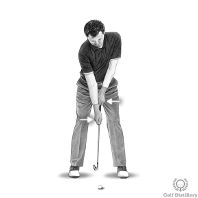 Extension Drill - Step 1: Grip the club with your right hand down the shaft of the club (below the grip)