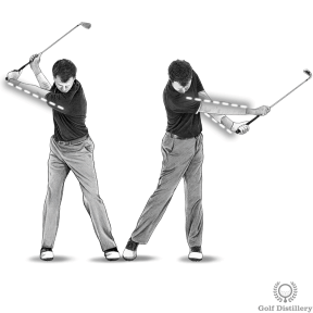 Golf Extension Drill - Step 2: Keep your arms straight during the release of the club at extension