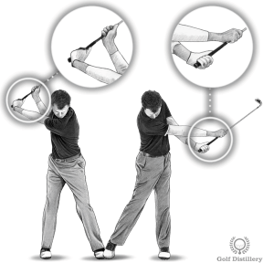 Golf Extension Drill - Step 3: Notice how your hands swap position during the release of the club