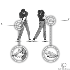 Rotate your hands are you progress through the release after impact