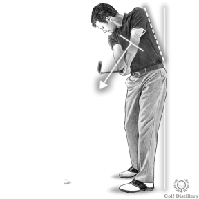 Maintain your spine angle during the release of the club after impact