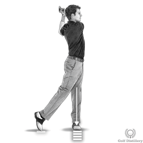 Your body weight should be on your front foot during the follow through