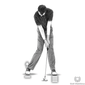 At impact you should have transferred your weight forward already, with your right heel coming off the ground