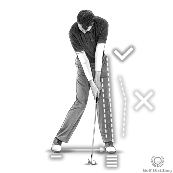 Golf Impact Drill - Snap your left leg straight and transfer your weight forward