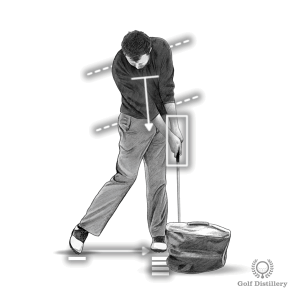 Hit into an impact bag for this golf impact drill