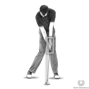Your hands should be ahead of the ball at impact (with irons and wedges)