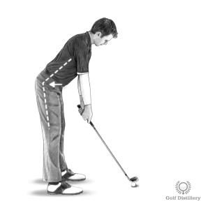 Golf Posture: Bend your upper body forward