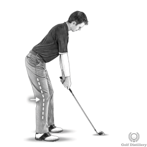 Golf Posture: flex your knees a little