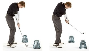 Anti Slice Golf Drill #1 - Basket Gate Drill | Free Online Golf Tips