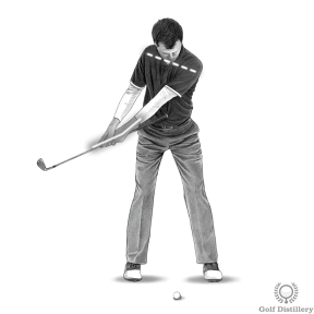 Keep your hands passive as your roll your shoulders in this takeaway drill
