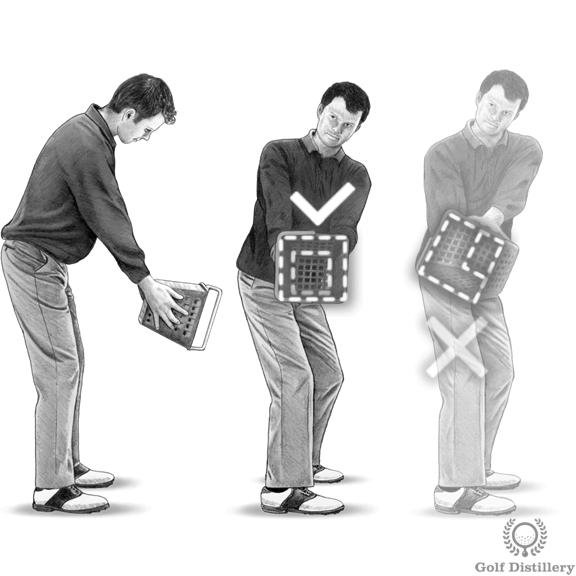 Golf Takeaway Drill - Ball Bucket